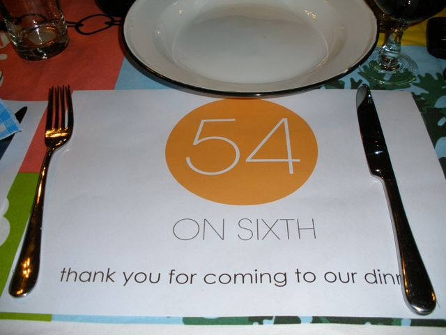 54 on Sixth. Every placemat needs a good address