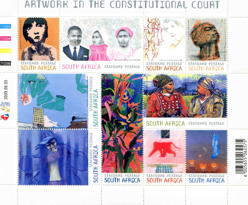 Artwork in the Constitutional Court stamp sheet
