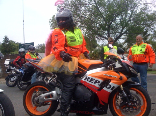 Traffic marshall with matching tutu