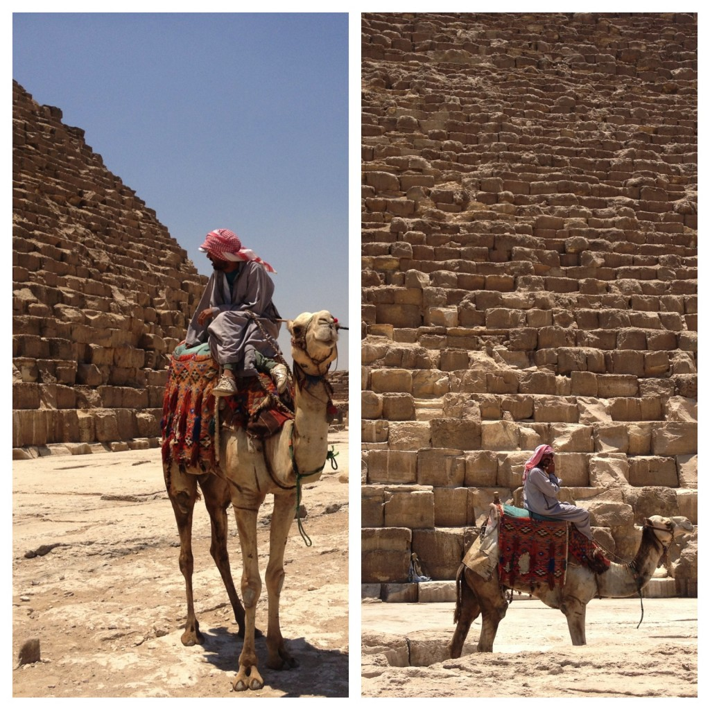 With tourism having hit an all-time low a visit to the pyramids felt like a private one, apart from a few camel drivers