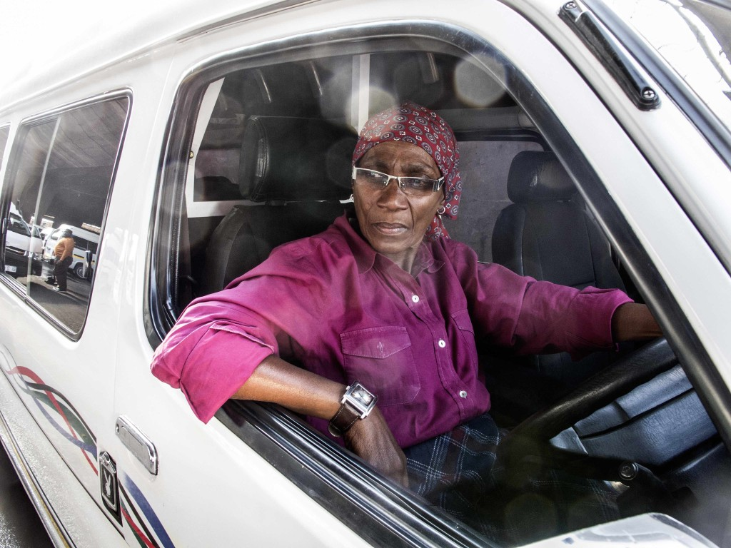 Gogo taxi driver from Zola © Mark Lewis